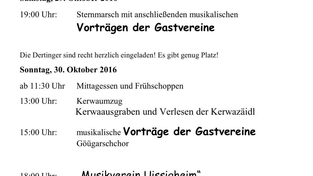 Kerwa Programm 2016