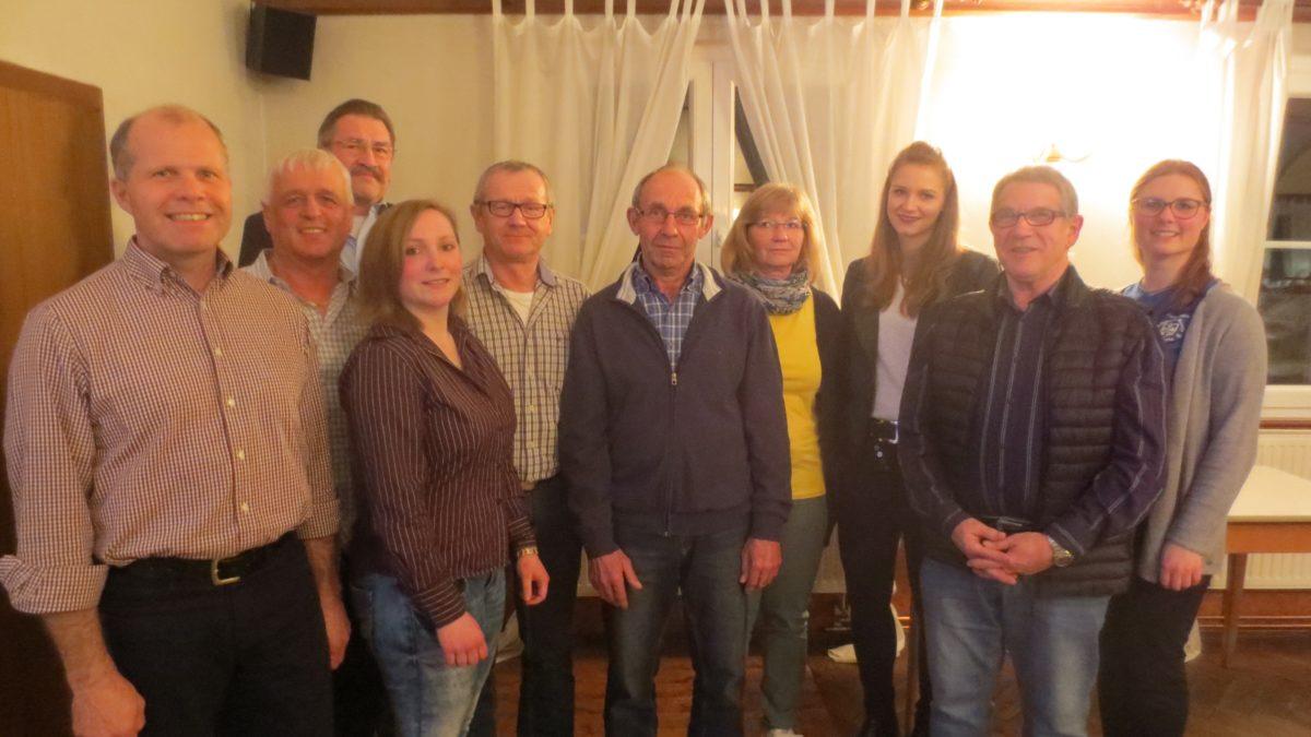 v.l. Fred Strauß, Udo Diehm, Wolfgang Gerhold vom VSF, Christina Gludowatz, Erich Hörner, Gerhard Götzelmann, Elvira Beuschlein, Corina Beuschlein, Hermann Ulram, Julia Baumann