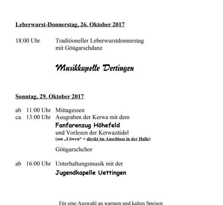 Programm Kerwa 2017